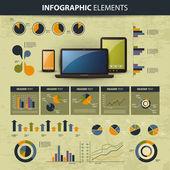 Vector set of infographic elements — Stock Vector