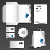 Stationery template design - business set — 图库矢量图片