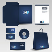 Briefpapier sjabloonontwerp - business set — Stockvector
