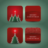 A Set of 4 Christmas Cards — Stock Vector