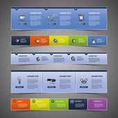 элементы веб-дизайна — Cтоковый вектор