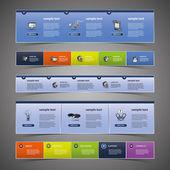 Web tasarım öğeleri — Stok Vektör