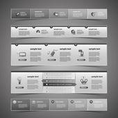 Webové prvky návrhu — Stock vektor