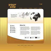 Resumo de negócios web site projeto modelo vector — Vetor de Stock