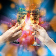 Toast champagne glass. Celebrating concept — Stock Photo