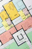 Architectural floor plan — Stock Photo