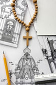 Architectural project of Christian church — Stock Photo