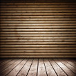 Wooden room — Stockfoto