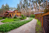 Wooden mansion — Stock Photo