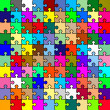 Jigsaw color puzzle — Foto Stock