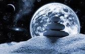 Zen stones in space — Stock Photo