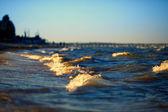 Small sea waves — Stock Photo
