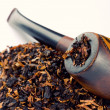 Smoking pipe and tobacco — Stock Photo