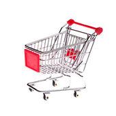 Small shopping cart — Stock Photo