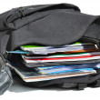 Stock Photo: Well-filled schoolbag