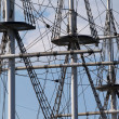 Stock Photo: Masts with ropes