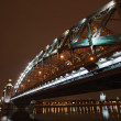 Great Piter bridge in perspective — Stock Photo