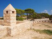 Walls of castle Fortezza — Stock Photo