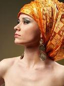 Orange turban — Stock Photo