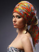 Girl with turban — Stock Photo