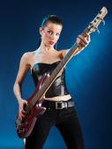 Gitarist ışık — Stok fotoğraf