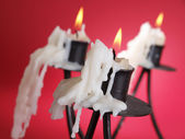 Burnt candle — Stock Photo