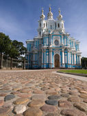 Smolny cathedral and square — Foto Stock