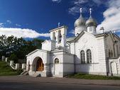 White church in Pskov — Stock Photo