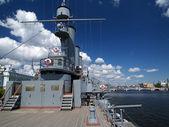 军事船舶的甲板上 — 图库照片