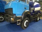 Wheels of blue truck — Stock Photo