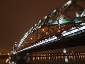 Great Piter bridge in perspective — Foto Stock