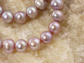 Necklace from a large pearls — Stock Photo