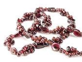 Garnet necklace — Stock Photo