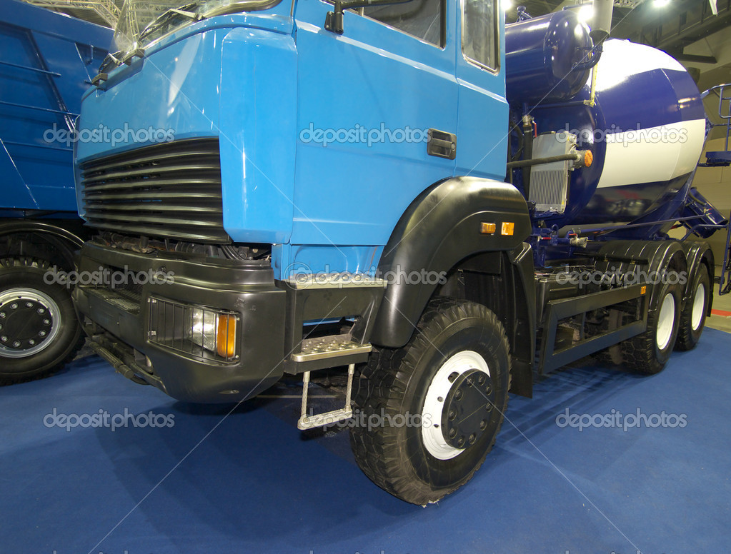 Blue power truck in hangar  Stock Photo #10947255