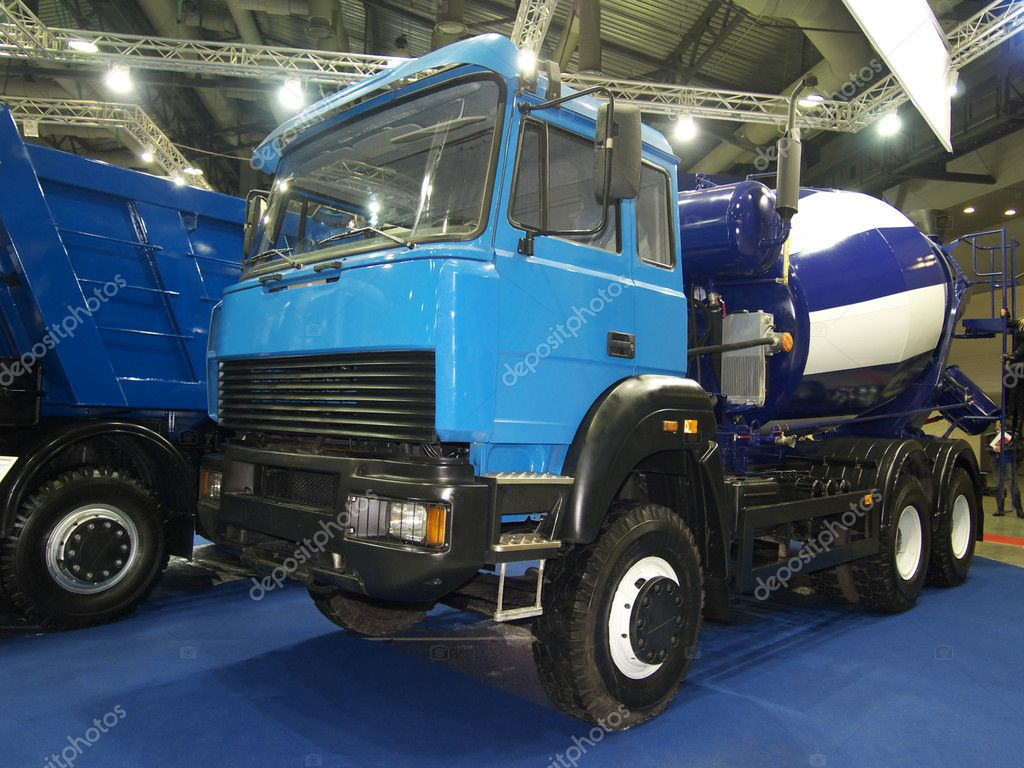Blue power truck in hangar — Stock Photo #10947290