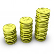 Stack of 3d coins — Foto de stock #12359510