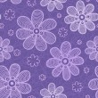 Stock Vector: Violet flowers pattern