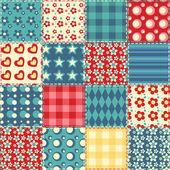 Sans couture patchwork modèle 2 — Vecteur