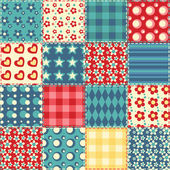 Quilt seamless pattern 2 — Stock Vector