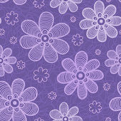 Violet flowers pattern — Stock Vector