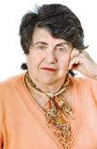 Starší dáma portrét — Stock fotografie