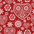 Royalty-Free Stock Imagen vectorial: Seamless pattern with flowers and hearts