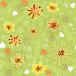 Green floral seamless. — Stock Vector #11364493