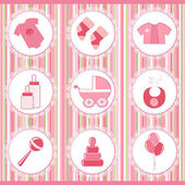 Baby labels. Design element — Stock Vector