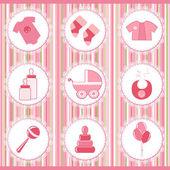 Baby labels. Design element — Stock Vector
