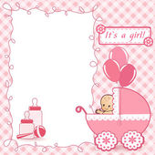 Baby Shower card. — Stock Vector