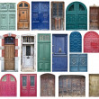 Old wooden doors — Stockfoto