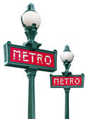Paris metro sign — Stock fotografie