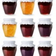 Collection of jam jars — Stock Photo #11644391