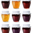 Stock Photo: Collection of jam jars